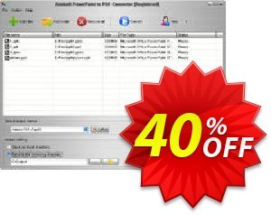 Aostsoft PowerPoint to PDF Converter Coupon, discount Aostsoft PowerPoint to PDF Converter Super sales code 2021. Promotion: Super sales code of Aostsoft PowerPoint to PDF Converter 2021