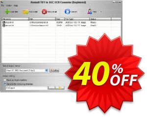 Aostsoft TIFF to DOC OCR Converter Coupon, discount Aostsoft TIFF to DOC OCR Converter Wonderful sales code 2021. Promotion: Wonderful sales code of Aostsoft TIFF to DOC OCR Converter 2021