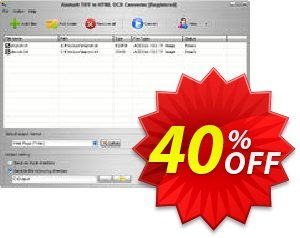 Aostsoft TIFF to HTML OCR Converter Coupon, discount Aostsoft TIFF to HTML OCR Converter Amazing deals code 2021. Promotion: Amazing deals code of Aostsoft TIFF to HTML OCR Converter 2021