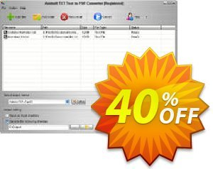 Aostsoft TXT Text to PDF Converter Coupon, discount Aostsoft TXT Text to PDF Converter Impressive promotions code 2021. Promotion: Impressive promotions code of Aostsoft TXT Text to PDF Converter 2021