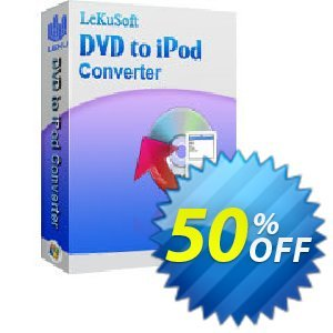 LeKuSoft DVD to iPod Converter Coupon, discount LeKuSoft DVD to iPod Converter Fearsome promo code 2020. Promotion: Fearsome promo code of LeKuSoft DVD to iPod Converter 2020