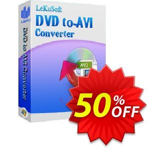 LeKuSoft DVD to AVI Converter Coupon, discount LeKuSoft DVD to AVI Converter Stunning promotions code 2020. Promotion: Stunning promotions code of LeKuSoft DVD to AVI Converter 2020