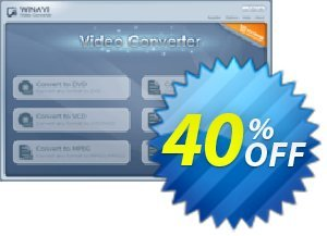 WinAVI Video Converter Coupon, discount WinAVI Video Converter Imposing discount code 2020. Promotion: Imposing discount code of WinAVI Video Converter 2020