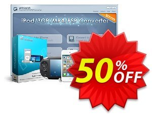 WinAVI iPod/3GP/MP4/PSP Converter Coupon, discount WinAVI iPod/3GP/MP4/PSP Converter Formidable discounts code 2020. Promotion: Formidable discounts code of WinAVI iPod/3GP/MP4/PSP Converter 2020