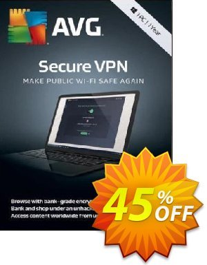 AVG Secure VPN Coupon discount 32% OFF AVG Secure VPN 2020. Promotion: Marvelous promotions code of AVG Secure VPN, tested in {{MONTH}}