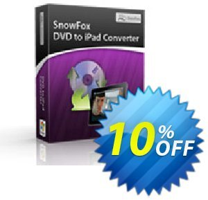 SnowFox DVD to iPad Converter Coupon discount SnowFox DVD to iPad Converter Excellent discount code 2020. Promotion: Excellent discount code of SnowFox DVD to iPad Converter 2020