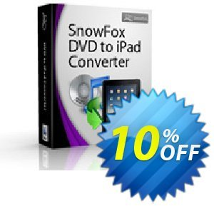 SnowFox DVD to iPad Converter for Mac discount coupon SnowFox DVD to iPad Converter for Mac Awful offer code 2020 - Awful offer code of SnowFox DVD to iPad Converter for Mac 2020