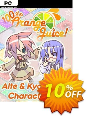 100% Orange Juice Alte & Kyoko Character Pack PC Coupon, discount 100% Orange Juice Alte & Kyoko Character Pack PC Deal. Promotion: 100% Orange Juice Alte & Kyoko Character Pack PC Exclusive offer for iVoicesoft