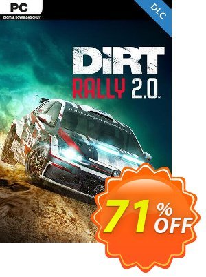 Dirt Rally 2.0 PC DLC 優惠券,折扣碼 Dirt Rally 2.0 PC DLC Deal,促銷代碼: Dirt Rally 2.0 PC DLC Exclusive offer for iVoicesoft