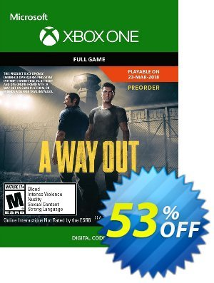 A Way Out Xbox One 優惠券,折扣碼 A Way Out Xbox One Deal,促銷代碼: A Way Out Xbox One Exclusive offer for iVoicesoft