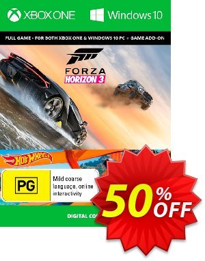 Forza Horizon 3 + Hot Wheels Xbox One/PC 프로모션 코드 Forza Horizon 3 + Hot Wheels Xbox One/PC Deal 프로모션: Forza Horizon 3 + Hot Wheels Xbox One/PC Exclusive offer for iVoicesoft