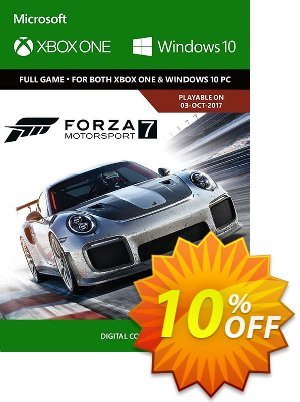 Forza Motorsport 7: Standard Edition Xbox One/PC 프로모션 코드 Forza Motorsport 7: Standard Edition Xbox One/PC Deal 프로모션: Forza Motorsport 7: Standard Edition Xbox One/PC Exclusive offer for iVoicesoft