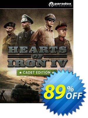 Hearts of Iron IV 4 Cadet Edition PC Coupon, discount Hearts of Iron IV 4 Cadet Edition PC Deal. Promotion: Hearts of Iron IV 4 Cadet Edition PC Exclusive offer for iVoicesoft