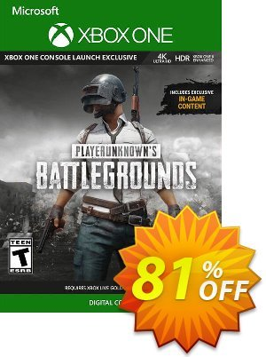PlayerUnknown's Battlegrounds (PUBG) Xbox One Coupon discount PlayerUnknown's Battlegrounds (PUBG) Xbox One Deal. Promotion: PlayerUnknown's Battlegrounds (PUBG) Xbox One Exclusive offer for iVoicesoft