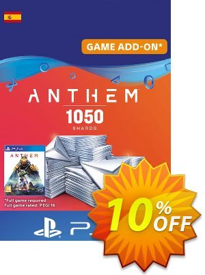 Anthem 1050 Shards PS4 (Spain) discount coupon Anthem 1050 Shards PS4 (Spain) Deal - Anthem 1050 Shards PS4 (Spain) Exclusive offer for iVoicesoft