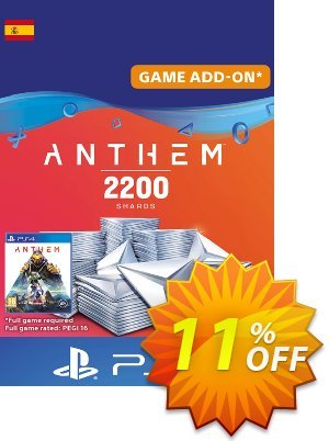 Anthem 2200 Shards PS4 (Spain) 프로모션 코드 Anthem 2200 Shards PS4 (Spain) Deal 프로모션: Anthem 2200 Shards PS4 (Spain) Exclusive offer for iVoicesoft