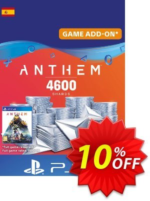 Anthem 4600 Shards PS4 (Spain) discount coupon Anthem 4600 Shards PS4 (Spain) Deal - Anthem 4600 Shards PS4 (Spain) Exclusive offer for iVoicesoft