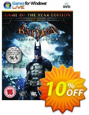 Batman : Arkham Asylum - Game Of The Year Edition (PC) Coupon, discount Batman : Arkham Asylum - Game Of The Year Edition (PC) Deal. Promotion: Batman : Arkham Asylum - Game Of The Year Edition (PC) Exclusive offer for iVoicesoft