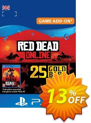 Red Dead Online: 25 Gold Bars PS4 (UK) discount coupon Red Dead Online: 25 Gold Bars PS4 (UK) Deal - Red Dead Online: 25 Gold Bars PS4 (UK) Exclusive offer for iVoicesoft