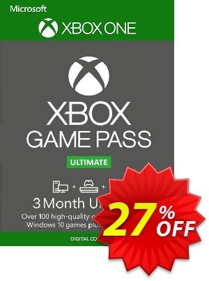 3 Month Xbox Game Pass Ultimate Xbox One / PC Coupon discount 3 Month Xbox Game Pass Ultimate Xbox One / PC Deal. Promotion: 3 Month Xbox Game Pass Ultimate Xbox One / PC Exclusive offer for iVoicesoft