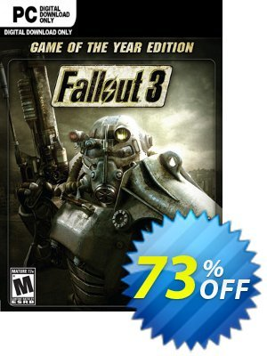 Fallout 3 Game of the Year Edition PC Coupon, discount Fallout 3 Game of the Year Edition PC Deal. Promotion: Fallout 3 Game of the Year Edition PC Exclusive offer for iVoicesoft