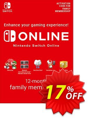 Nintendo Switch Online 12 Month (365 Day) Family Membership Switch discount coupon Nintendo Switch Online 12 Month (365 Day) Family Membership Switch Deal - Nintendo Switch Online 12 Month (365 Day) Family Membership Switch Exclusive offer for iVoicesoft