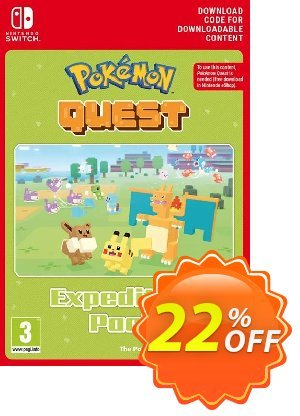 Pokemon Quest - Expedition Pack Switch Coupon discount Pokemon Quest - Expedition Pack Switch Deal. Promotion: Pokemon Quest - Expedition Pack Switch Exclusive offer for iVoicesoft