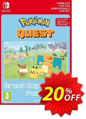 Pokemon Quest - Great Expedition Pack Switch Coupon, discount Pokemon Quest - Great Expedition Pack Switch Deal. Promotion: Pokemon Quest - Great Expedition Pack Switch Exclusive offer for iVoicesoft
