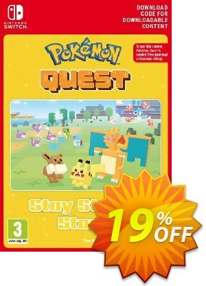 Pokemon Quest - Stay Strong Stone Switch Coupon, discount Pokemon Quest - Stay Strong Stone Switch Deal. Promotion: Pokemon Quest - Stay Strong Stone Switch Exclusive offer for iVoicesoft