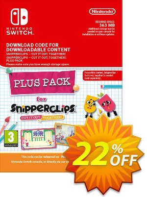 Snipperclips - Cut it out Together Plus Pack Switch 프로모션 코드 Snipperclips - Cut it out Together Plus Pack Switch Deal 프로모션: Snipperclips - Cut it out Together Plus Pack Switch Exclusive offer for iVoicesoft