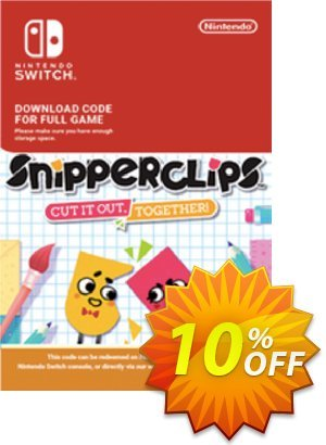 SnipperClips - Cut It Out Together Switch Coupon discount SnipperClips - Cut It Out Together Switch Deal. Promotion: SnipperClips - Cut It Out Together Switch Exclusive offer for iVoicesoft