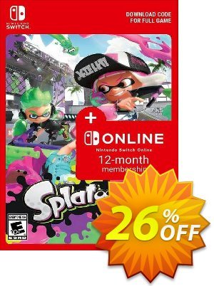 Splatoon 2 + 12 Month Membership Switch Coupon, discount Splatoon 2 + 12 Month Membership Switch Deal. Promotion: Splatoon 2 + 12 Month Membership Switch Exclusive offer for iVoicesoft