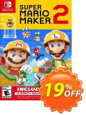 Super Mario Maker 2 + 12 Month Membership Switch discount coupon Super Mario Maker 2 + 12 Month Membership Switch Deal - Super Mario Maker 2 + 12 Month Membership Switch Exclusive offer for iVoicesoft