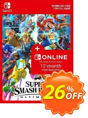 Super Smash Bros. Ultimate + 12 Month Membership Switch discount coupon Super Smash Bros. Ultimate + 12 Month Membership Switch Deal - Super Smash Bros. Ultimate + 12 Month Membership Switch Exclusive offer for iVoicesoft