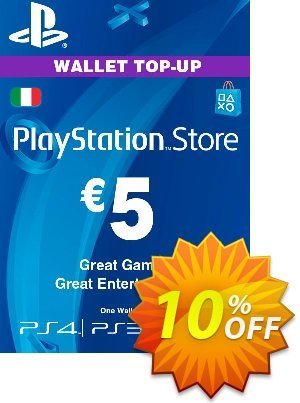 Playstation Network (PSN) Card - 5 EUR (Italy) discount coupon Playstation Network (PSN) Card - 5 EUR (Italy) Deal - Playstation Network (PSN) Card - 5 EUR (Italy) Exclusive offer for iVoicesoft