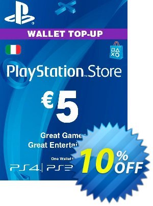 Playstation Network (PSN) Card - 5 EUR (Italy) Coupon discount Playstation Network (PSN) Card - 5 EUR (Italy) Deal - Playstation Network (PSN) Card - 5 EUR (Italy) Exclusive offer for iVoicesoft