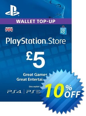 PlayStation Network Card - £5 (PS Vita/PS3/PS4) discount coupon PlayStation Network Card - £5 (PS Vita/PS3/PS4) Deal - PlayStation Network Card - £5 (PS Vita/PS3/PS4) Exclusive offer for iVoicesoft
