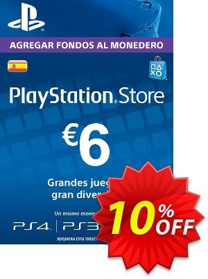 PlayStation Network (PSN) Card - 6 EUR (Spain) Coupon discount PlayStation Network (PSN) Card - 6 EUR (Spain) Deal - PlayStation Network (PSN) Card - 6 EUR (Spain) Exclusive offer for iVoicesoft