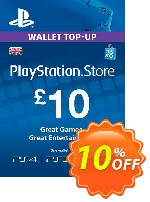 PlayStation Network Card - £10 (PS Vita/PS3/PS4) 優惠券,折扣碼 PlayStation Network Card - £10 (PS Vita/PS3/PS4) Deal,促銷代碼: PlayStation Network Card - £10 (PS Vita/PS3/PS4) Exclusive offer for iVoicesoft