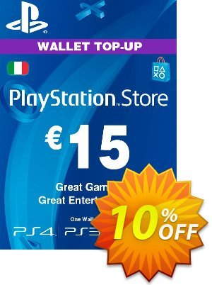Playstation Network (PSN) Card - 15 EUR (Italy) Coupon discount Playstation Network (PSN) Card - 15 EUR (Italy) Deal. Promotion: Playstation Network (PSN) Card - 15 EUR (Italy) Exclusive offer for iVoicesoft