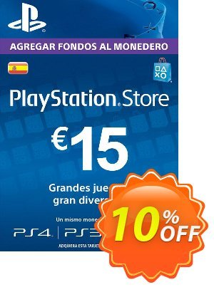 PlayStation Network (PSN) Card - 15 EUR (Spain) Coupon discount PlayStation Network (PSN) Card - 15 EUR (Spain) Deal. Promotion: PlayStation Network (PSN) Card - 15 EUR (Spain) Exclusive offer for iVoicesoft