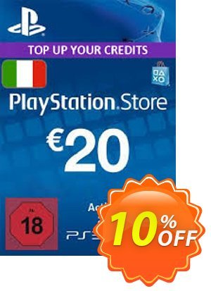 PlayStation Network (PSN) Card - 20 EUR (Italy) discount coupon PlayStation Network (PSN) Card - 20 EUR (Italy) Deal - PlayStation Network (PSN) Card - 20 EUR (Italy) Exclusive offer for iVoicesoft