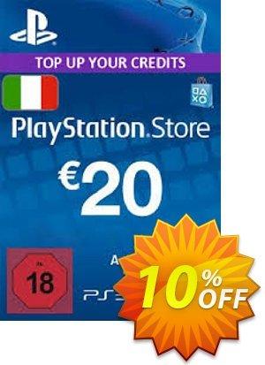 PlayStation Network (PSN) Card - 20 EUR (Italy) Coupon discount PlayStation Network (PSN) Card - 20 EUR (Italy) Deal