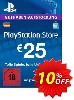 PlayStation Network (PSN) Card - 25 EUR (Germany) discount coupon PlayStation Network (PSN) Card - 25 EUR (Germany) Deal - PlayStation Network (PSN) Card - 25 EUR (Germany) Exclusive offer for iVoicesoft