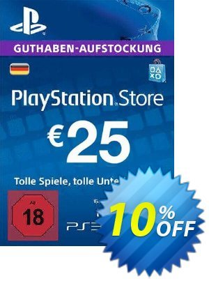 PlayStation Network (PSN) Card - 25 EUR (Germany) Coupon discount PlayStation Network (PSN) Card - 25 EUR (Germany) Deal. Promotion: PlayStation Network (PSN) Card - 25 EUR (Germany) Exclusive offer for iVoicesoft