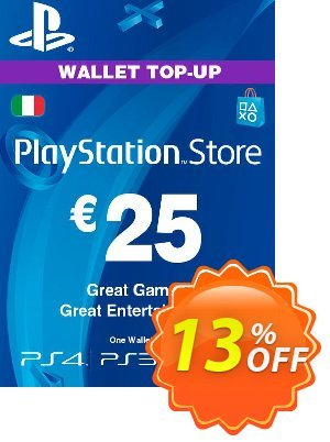 Playstation Network (PSN) Card - 25 EUR (Italy) Coupon discount Playstation Network (PSN) Card - 25 EUR (Italy) Deal. Promotion: Playstation Network (PSN) Card - 25 EUR (Italy) Exclusive offer for iVoicesoft