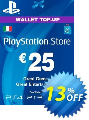 Playstation Network (PSN) Card - 25 EUR (Italy) discount coupon Playstation Network (PSN) Card - 25 EUR (Italy) Deal - Playstation Network (PSN) Card - 25 EUR (Italy) Exclusive offer for iVoicesoft