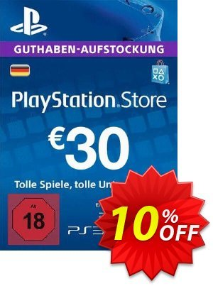 PlayStation Network (PSN) Card - 30 EUR (Germany) Coupon discount PlayStation Network (PSN) Card - 30 EUR (Germany) Deal. Promotion: PlayStation Network (PSN) Card - 30 EUR (Germany) Exclusive offer for iVoicesoft