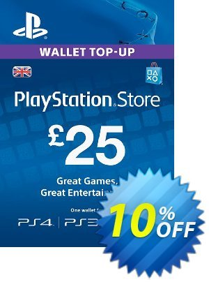 Playstation Network Card - £25 (PS Vita/PS3/PS4) Coupon discount Playstation Network Card - £25 (PS Vita/PS3/PS4) Deal. Promotion: Playstation Network Card - £25 (PS Vita/PS3/PS4) Exclusive offer for iVoicesoft