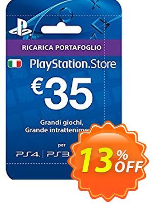 PlayStation Network (PSN) Card - 35 EUR (Italy) Coupon discount PlayStation Network (PSN) Card - 35 EUR (Italy) Deal. Promotion: PlayStation Network (PSN) Card - 35 EUR (Italy) Exclusive offer for iVoicesoft